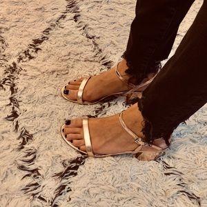ASOS Rose gold chunky heel (SIZE 7)